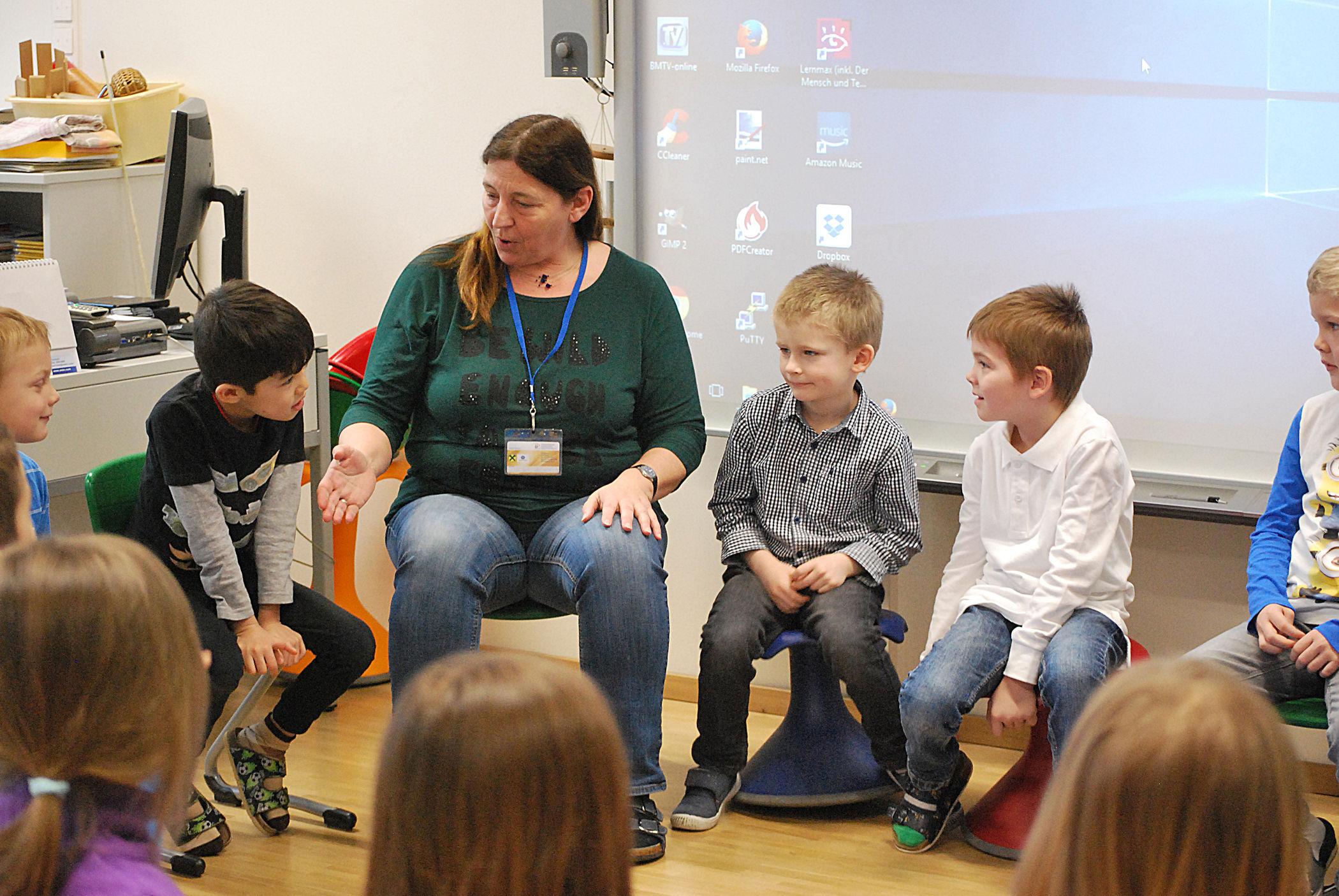 Besuch: Kindergarten in Vorschulklasse
